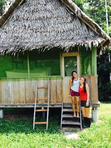 ETSU Students Pooja Shah and Sarah Zimmer conducted research in the middle of the Amazon Rainforest as part of an international Health without Borders project. (Contributed Photo/East Tennessean)